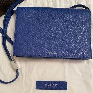 AUXILIARY   Blue Calisch cross body bag